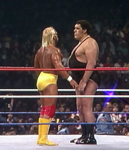 Andre le géant vs hulk hogan wrestlemania 3