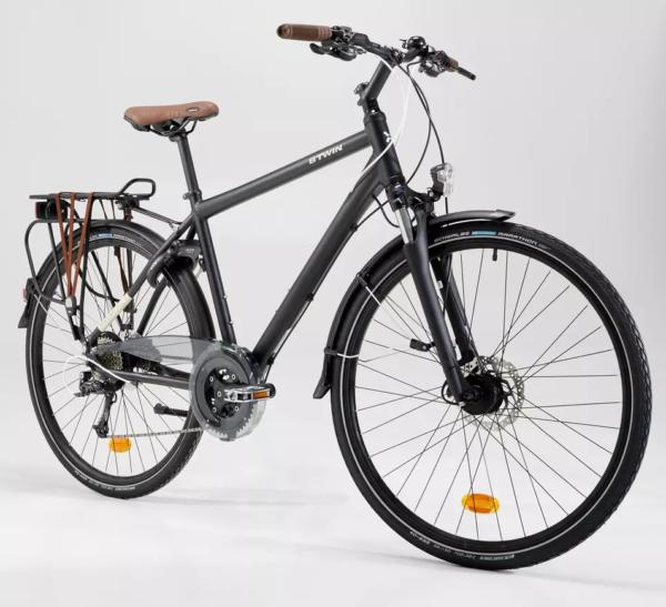 Vélo de ville grande taille suspension avant