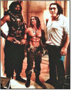 Wilt chamberlain Arnold Schwarzenegger Andre the giant Conan the destroyer