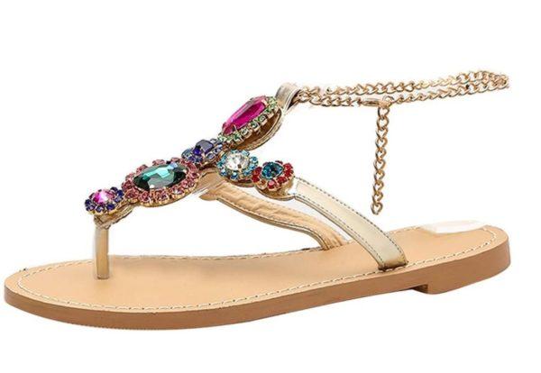 Sandales en strass grande taille