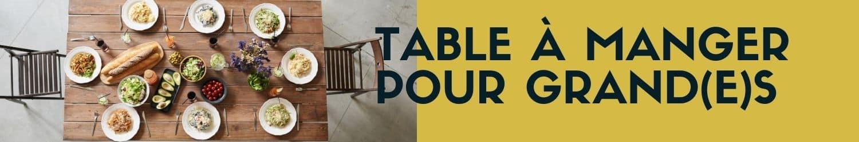 table à manger pour grands