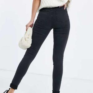 jean skinny délavé grande taille
