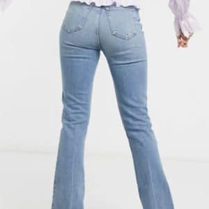 jean taille haute style seventies grande longueur 38